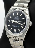 df3fffcb9f3 Rolex Explorer I 114270 Stainless Steel Oyster Black Dial Watch PAPERS   MINT