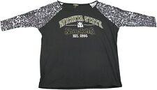 Statement Ladies Large Wichita Kansas Shockers 3/4 Sleeve Blouse, Black/Multi