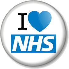 I Love / Heart The NHS 25mm Pin Button Badge National Health Service Nye Bevan