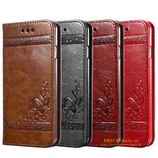 LUXUS Handy Tasche Leder Schutz Hülle Premium Slim Flip Case Stand Etui Wallet