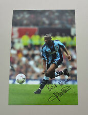 Peter Ndlovu Signed 12x8 Photo Genuine Autograph Coventry City Memorabilia + COA