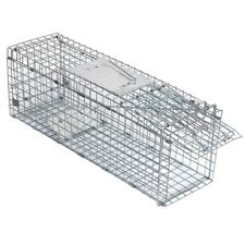 24x8x7 Animal Trap Steel Cage for Small Live Rodent Rat Squirrel Raccoon Iron