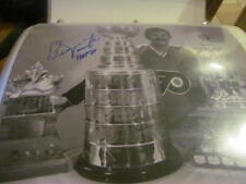 Bernie Parent Philadelphia Flyers Signed 8x10 Photo COA Trophies