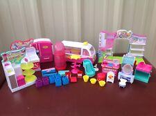 Shopkins Playset Lot  Shoe Dazzle, Make-up Spot, Grocery Store, Fridge etc....