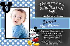 Personalised Mickey Mouse Boys Birthday Party Invitations - You Print and SAVE!