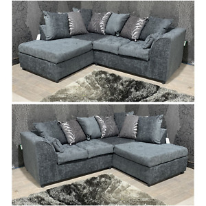 SALE Zina New Dylan Milo- Grey Corner Sofa Left Hand or Right Hand ASAP Delivery