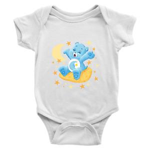 Bedtime Cute Bear Sleepy Moon Stars Infant Baby Rib Bodysuit Clothes Babysuit