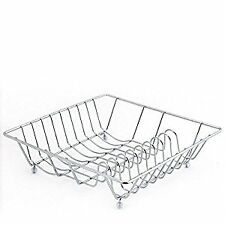 Durable Steel Square Kitchen Dish Drainer Plates Holder