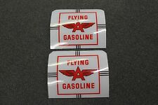 National Flying A gas pump misc components, curved glass, Phillips 66, Gilmore