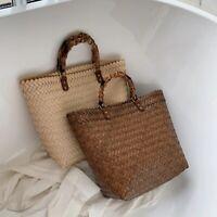 New Rattan Straw Crossbody Bag Summer Beach Handbag Handmade Shoulder Tote Bali