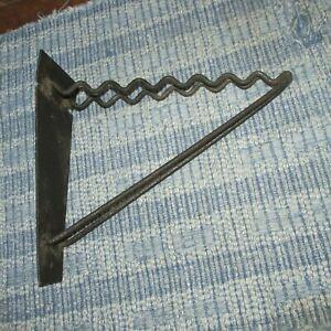 Antique Lupton Iron Tool Storage Hanging Bracket,10 3/8 by 11 1/2 IN