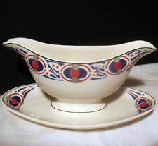 Vintage Villeroy & Boch China Gravy Boat Attached Underplate 7075 Saxony Dresden
