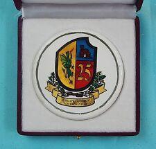 Vintage Serbian Serbia Military Army Porcelain Table Medal & Box