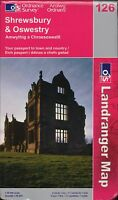 Shrewsbury & Oswestry Ordnance Survey  Landranger Map    2002 E2.216