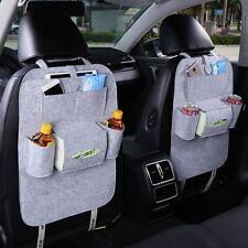 Auto Car Seat Back Storage Bag Multi-Pocket Organizer iPad iPhone Holder Grey