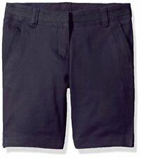 Girls' School Uniform Skinny Twill Bermuda Short, Navy, Size 18.5 6K2T