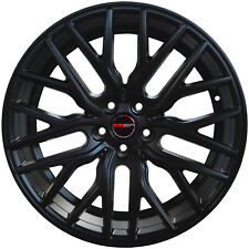 4 GWG Wheels 20 inch STAGGERED Matte Black FLARE Rims fits FORD MUSTANG 2000-14
