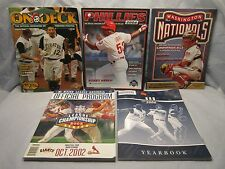 BASEBALL MLB OFFICIAL MAGAZINE PROGRAM YEARBOOK LOT OF 5 SOUVENIR FROM 2002-2006