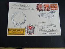 Nederland mengfr. op brief A'dam - Stocholm 1928 via Overnight Service Londen