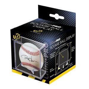 ULTRA PRO BASEBALL CUBE, UV PROTECTED baseball display case clear NEW