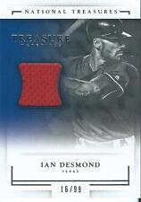 Ian Desmond 2016 National Treasures Baseball Treasure Materials Jersey /99