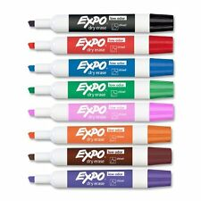 Expo Ii Dry Erase Markers - Chisel Marker Point Style - Black, Red, Blue, Green,