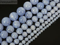 Natural Chalcedony Blue Lace Agate Purple Round Beads 15.5'' 4mm 6mm 8mm 10mm