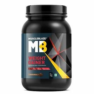 MuscleBlaze MB Weight Gainer Supplement Easy To Digest Chocolate Flavor 1 Kg