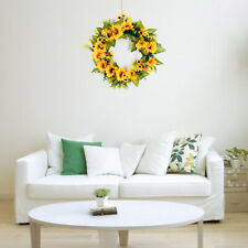 Wall Hanging Decorative Wreath Fake Sunflower Artificial Flower Indoor Home