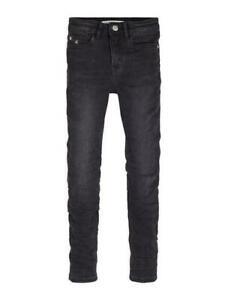 Calvin Klein Jeans Girls Skinny High Rise Stretch Jean - Black - UK 8 Years