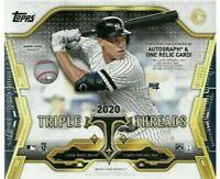 ⚾ 2020 Topps Triple Threads Baseball Box Break- 1 Random Team. Free Shipping! ⚾