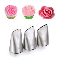 Stainless Steel Cream Tool Icing Piping Nozzles Baking Mold Rose Petal Nozzle