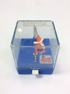Vintage Tomy Japan Skill Squares Rescue Copter Wind-Up Toy Game Starcades