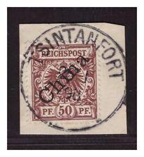 Kiautschou Vorläufer V 6 I ° Tsintanfort 26.1.98  Luxus Briefstück gepr. BPP