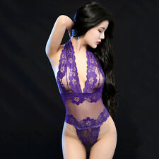 Women Lace Sexy-Lingerie Nightwear Underwear G-string Babydoll Sleepwear Dress .