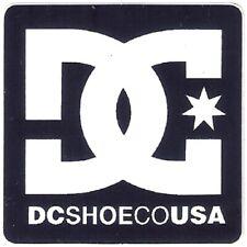 DC Shoes Skateboard Sticker Logo Blau Weiß 5,5x5,5cm Quadratisch