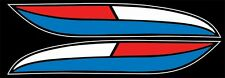 1972 XLH XLCH Harley Davidson SMALL RED WHITE BLUE Tank Sportster decal w/logo's