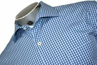 16596-a Peter Millar Button Up Dress Shirt Size 2XL Blue Plaids Mens