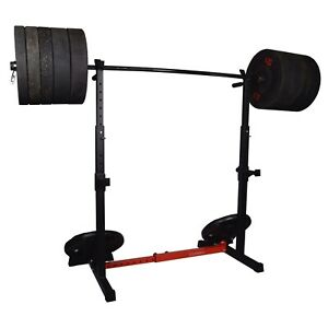 Exersci Heavy Duty Squat Rack with Dips and Storage Arms - Version 2