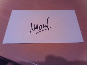 signed card of ex derby preston aberdeen footballer youl mawene