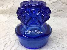 Blue Vaseline glass Decanter Bottle topper / uranium top stopper perfume alcohol