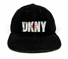 VTG 90s DKNY NYC VELOUR 6 PANEL HAT CAP DONNA KAREN NEW YORK OPENING CEREMONY