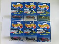 Lot of 6 1992 Hot Wheels Splittin' Image II No 248 with wheel and top variations