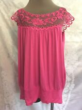 SIMPLY IRRESISTIBLE PLUS 1X  LACE PINK HEARTS   STRETCH