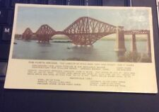 Scotland. The Forth Bridge Facts & Figures. Valentine's Printed Postcard