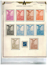 Stunning Lot Florence Italy 1911 Special Airmail Labels Hinged