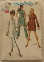 Vintage Dress Tunic Pants Sewing Pattern*Simplicity 7994*Size 16*UNCUT/FF*retro