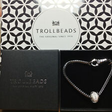 "TROLLBEADS ** OFFERTA DI NATALE ARGENTO BRACCIALE ""diamantenbeat"", 19 cm ** Argento Nuovo"