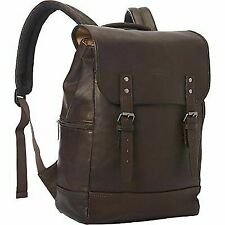 Kenneth Cole Reaction Colombian Leather Single Gusset Flapover Computer Backpack