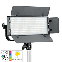 LED Bi-Colour Panel Portable Studio Dimmable Handheld Battery Powered Lighting